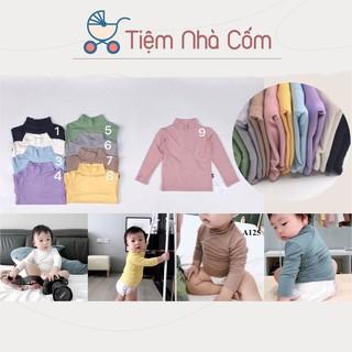 Áo thun cổ cao giữ nhiệt cho bé trai/bé gái Kwoo - Thun lạnh xuất Hàn