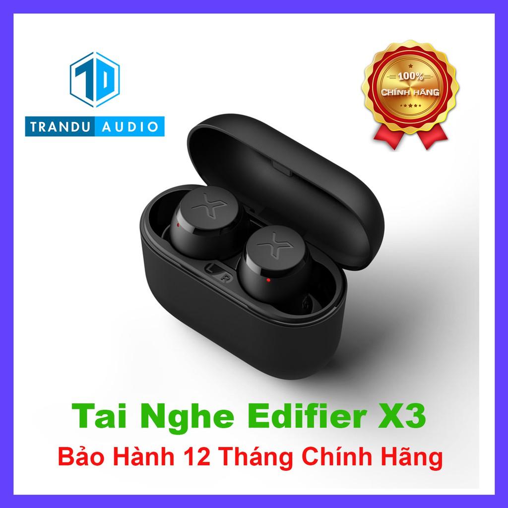 Tai Nghe True Wirless Edifier X3 ✔️Bản Quốc Tế ✔️Nhỏ Gọn✔️Aptx ✔️Pin 6h ✔️Chính Hãng ✔️Bảo Hành 12 Tháng| Trần Du Audio