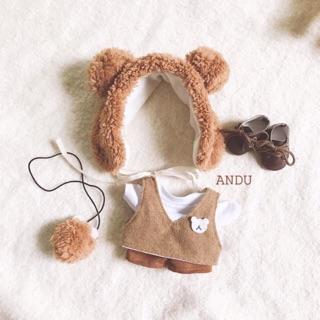 Outfit cho doll (Set BROWN) (set babeciu autumn)