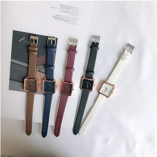 (Giá sỉ) Đồng hồ thời trang Viser nữ mặt vuông có lịch ST476