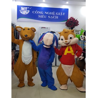 Quần áo hoá trang Mascot Lừa xanh Pooh – sinh nhật, sự kiện