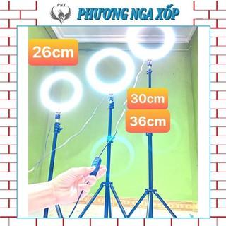 Đèn Livestream 16cm 26cm 30cm 36cm 45cm 54cm kèm chân đỡ đèn bằng sắt dài 2m1 nhập khẩu mới 100%