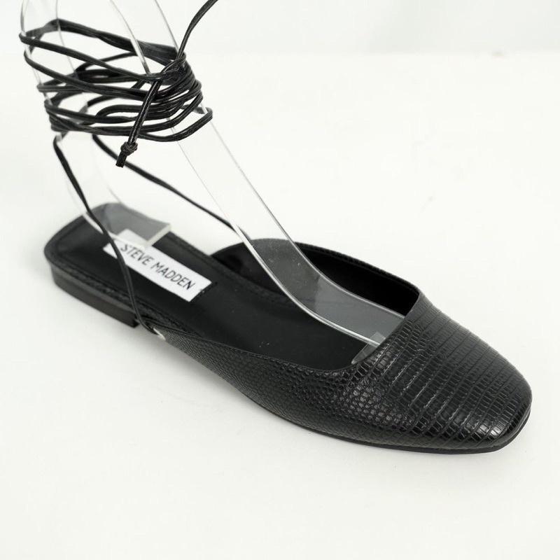 [Joiehome] Giày bệt khoét vuông cột dây siêu xinh