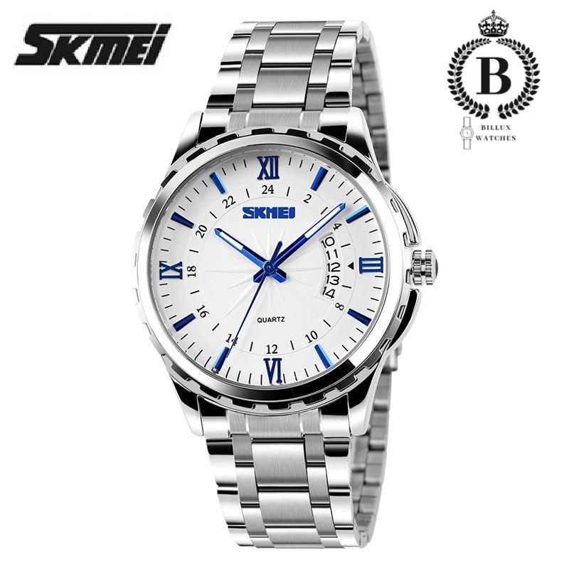 Đồng hồ Nam SKMEI 9069 [Billux] dây kim loại - 40mm (3 màu) [SKMMT007]
