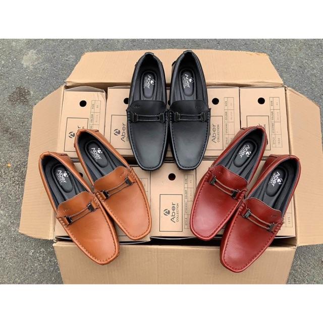 Giày lười nam da thật toàn bộ