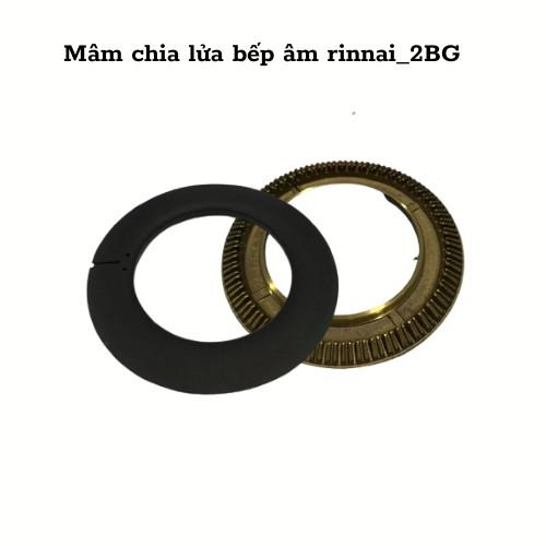 Mâm chia lửa bếp gas âm Rinnai_2BG, bếp gas đôi Rinnai.