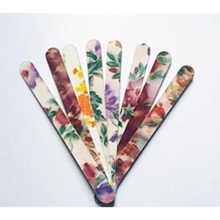 Dũa giấy bông in hoa làm móng nail1 bó 10 cây size thumbnail