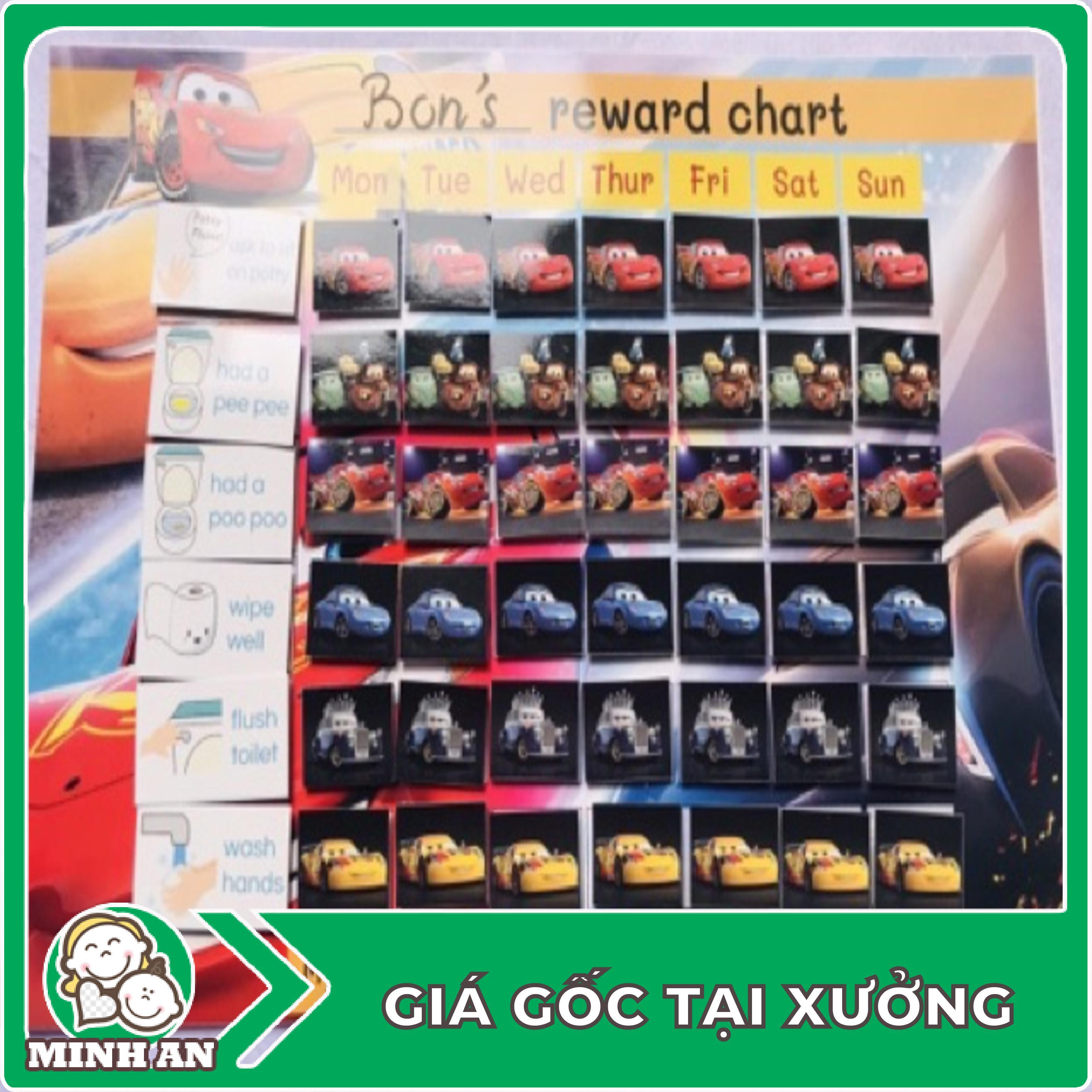 ❀ ❀ Bảng thành tích khen thưởng - Reward chart cho bé - Bộ đồ chơi cho bé ❀ ❀