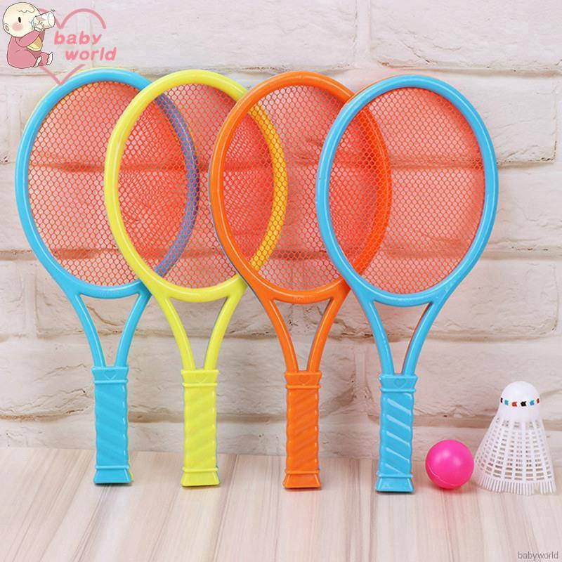 Cặp vợt cầu lông bằng nhựa xinh xắn vui nhộn cho bé
