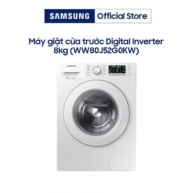 Miễn phí công lắp đặt-Máy giặt Samsung Inverter 8 kg WW80J52G0KW/SV