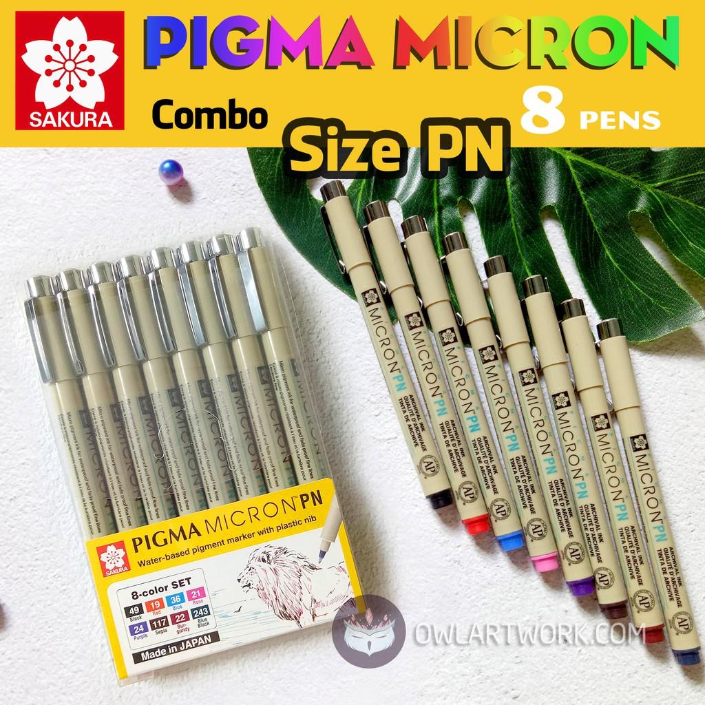 [CHÍNH HÃNG] Combo Bộ Bút Vẽ Đi Nét Chuyên Nghiệp Sakura Micron