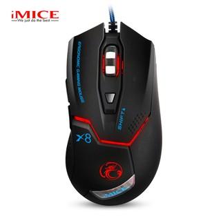 Mouse Gaming IMICE X8 Dây dù - Led 7 màu thumbnail