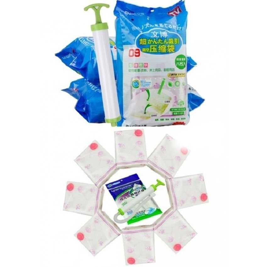 Bộ 8 túi hút chân không đựng chăn màn kèm bơm - 3367160 , 595643847 , 322_595643847 , 110000 , Bo-8-tui-hut-chan-khong-dung-chan-man-kem-bom-322_595643847 , shopee.vn , Bộ 8 túi hút chân không đựng chăn màn kèm bơm