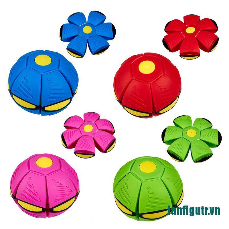 (new)Flying Flat Throw Disc Ball Light Toy Kid Outdoor Garden Basketball Game