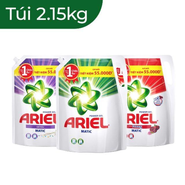Nước giặt Ariel Matic giữ màu, hương downy, khử mùi ẩm mốc túi 1.25kg