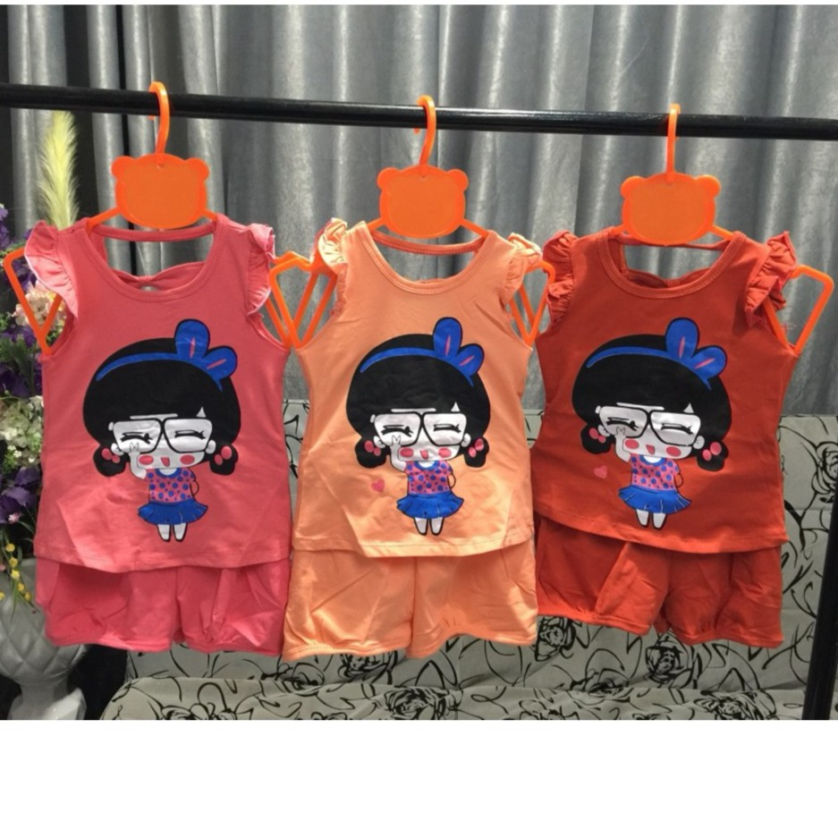 Bộ cotton thun lạnh cho bé gái hình bé gái đeo kinh/BGMH18 - 10085861 , 945682659 , 322_945682659 , 99000 , Bo-cotton-thun-lanh-cho-be-gai-hinh-be-gai-deo-kinh-BGMH18-322_945682659 , shopee.vn , Bộ cotton thun lạnh cho bé gái hình bé gái đeo kinh/BGMH18