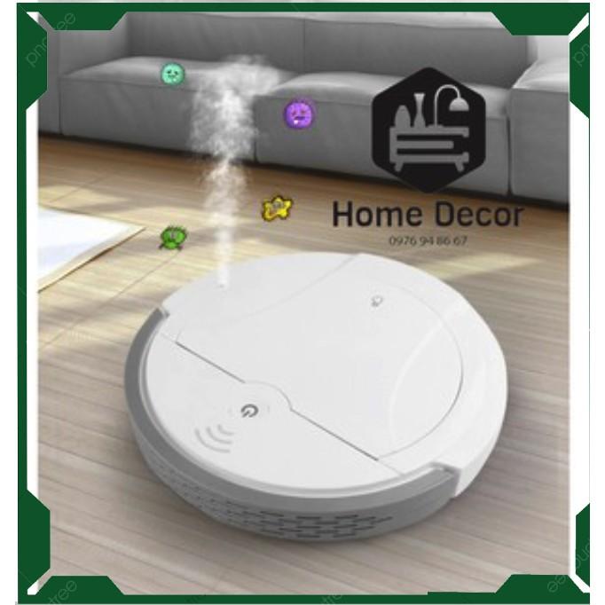 Robot hút bụi FUJUKI thông mình kết hợp 5 trong 1 (hút bụi, quét nhà, lau nhà, phun khử trùng, xông tinh dầu).