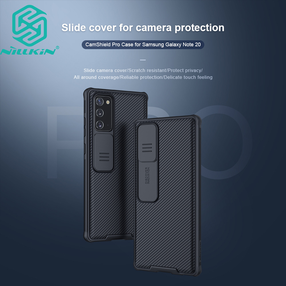 Nillkin CamShield Pro Case for Samsung Galaxy Note 20 5G Friendly TPU and PC Slide Cover Camera Protection Back Cover Casing