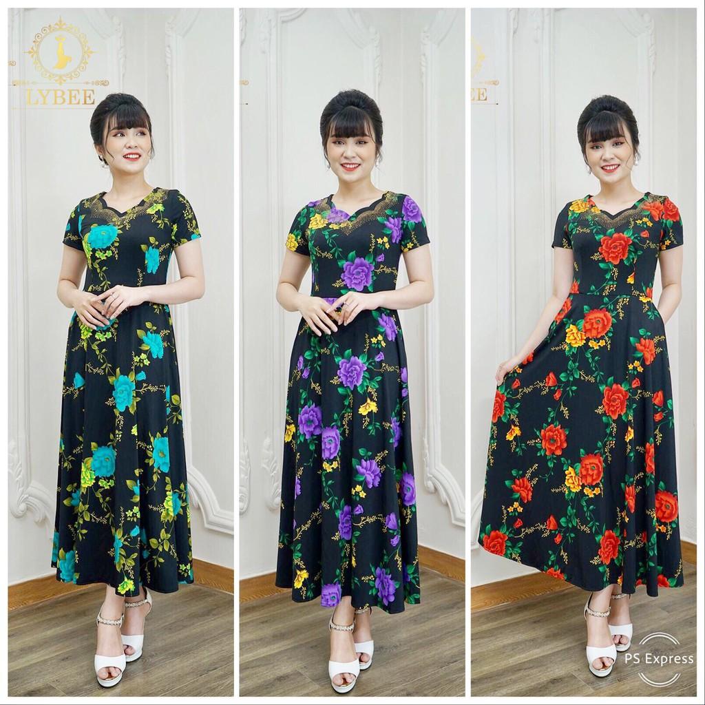 Váy Quý Bà - Đầm Trung Niên hàng thiết kế Lybee Mã 348