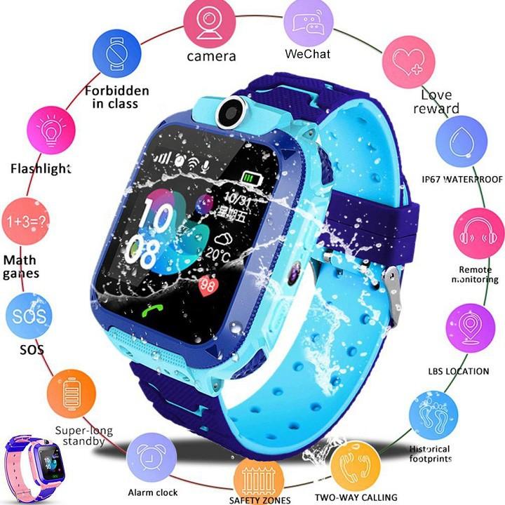 Đồng hồ thông minh trẻ em lắp sim nghe gọi định vị A28(Q12) có hỗ trợ tiếng việt