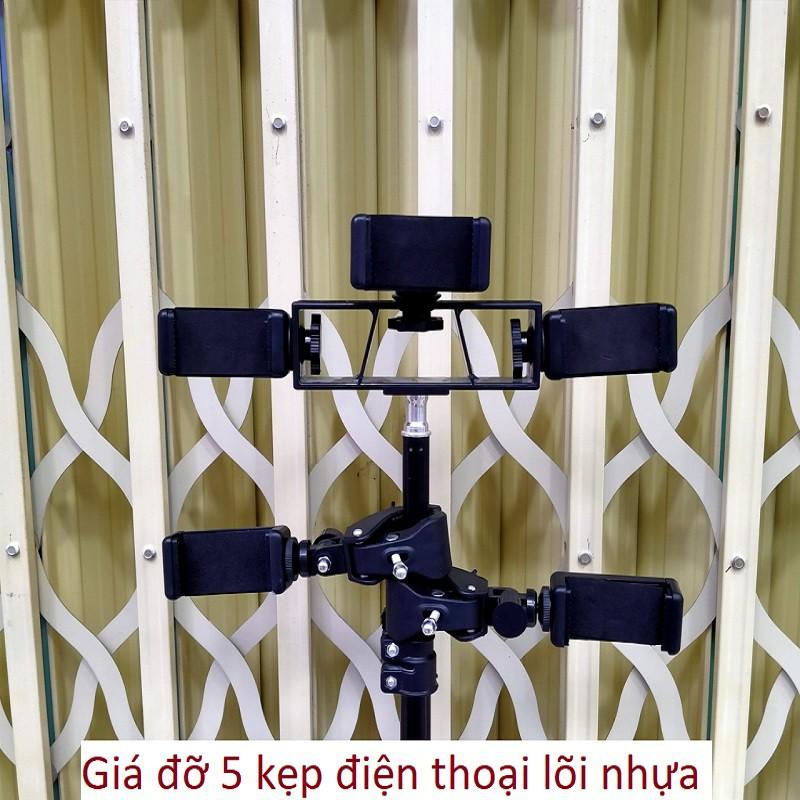 Cây live giá đỡ điện thoại livestream,quay tiktok 3 chân tripod cao từ 65cm đến 2m cho nhiều kẹp điện thoại thông minh