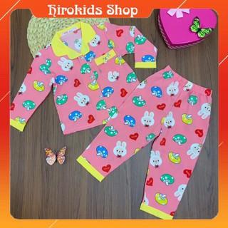 Bộ đồ ngủ Pijama vải Lụa mịn đẹp dài tay cho bé gái (12-32kg) – HIROKIDS
