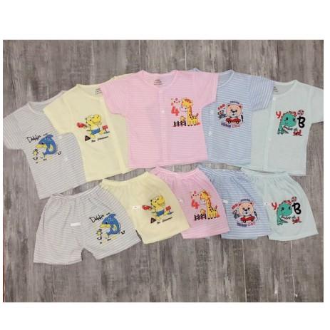 Bộ quần áo NouBaby cộc tay cotton mềm mại thoáng mát cho bé