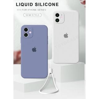 DGD Ốp điện thoại silicon màu kẹo nhám kèm dây đeo cho iPhone 6 6S 7 8 Plus X XS MAX XR iPhone 11 Pro max SE 2020 2 45 5