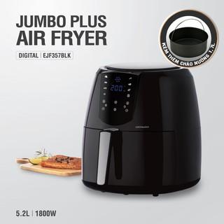 Hình ảnh Nồi Chiên Không Dầu Lock&Lock Jumbo Plus Air Fryer 5.2L Màu-đen EJF357BLK-7