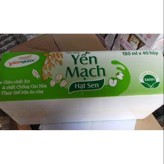 1 thùng Yến mạch & hạt sen Vietngucoc Xuân An hộp 180ml(40 hộp)