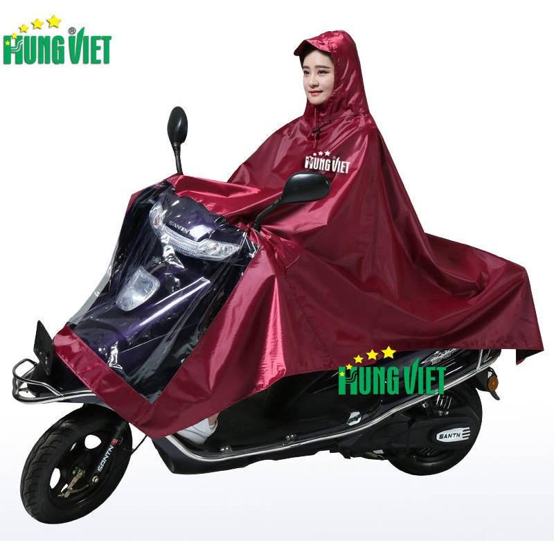 Áo mưa 1 đầu 2 đầu vải siêu nhẹ cỡ đại chính hãng Hưng Việt