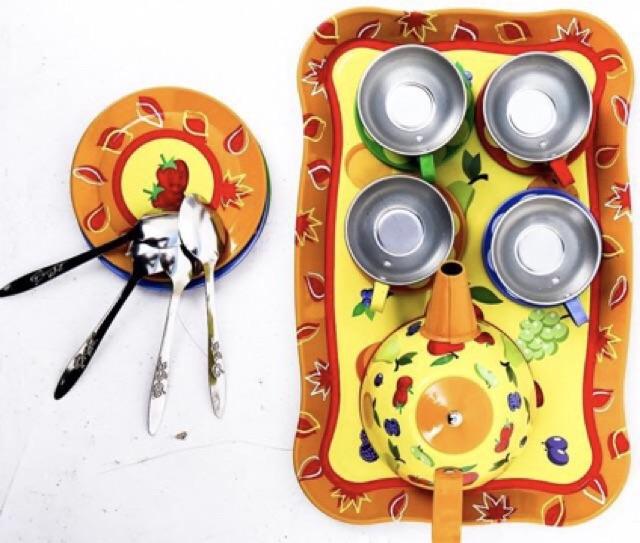 Bộ đồ chơi pha trà bằng inox cao cấp!Ms 00150101