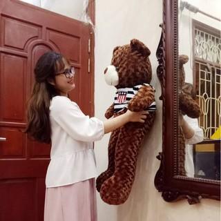 Gấu bông Teddy Cao Cấp khổ vải 1m Cao 80cmmàu Nâu hàng VNXK