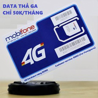 Sim KO GIỚI HẠN DATA Mobifone DIP50 50k 1 tháng