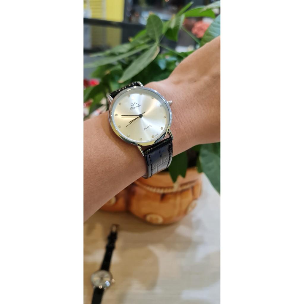 Đồng hồ dây da QB Q11 rẻ, đẹp, sang trọng