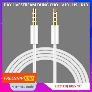 Dây Livestream Chuẩn 2 Đầu 3.5, Jack Dùng Cho Sound Card V10 - Sound Card H9 - Sound Card K10 thumbnail