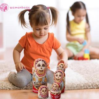 WB✿ 10pcs Russian Matryoshka Nesting Doll Girl Basswood Hand Painted Decor Gift