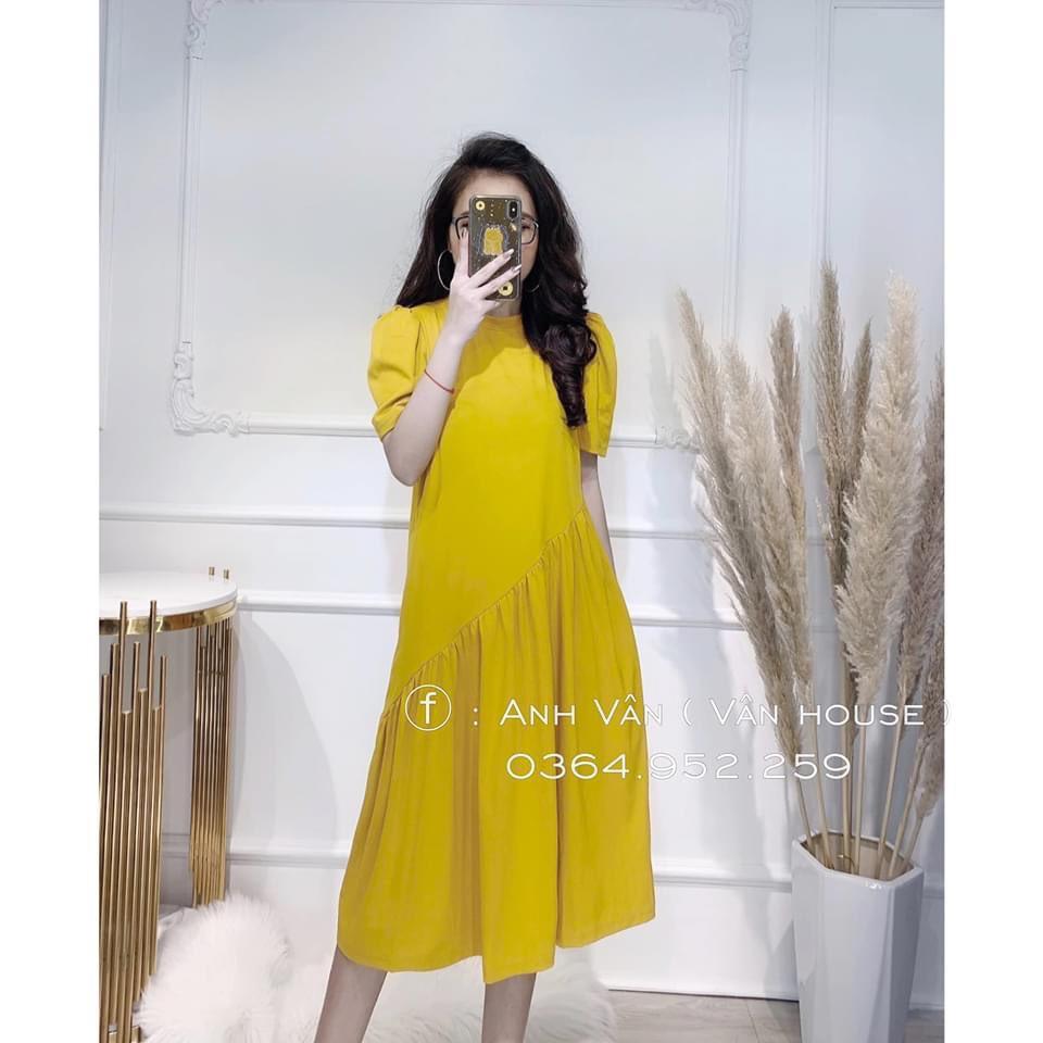 Mặc gì đẹp: Dễ chịu với Đầm bầu xinh thiết kế Aidenshop đầm bầu thời trang suông A freesize 40-65kg VB1
