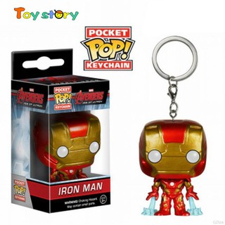 The Avengers Iron Man Spiderman Hulk Model Keychain decoration Toy with box