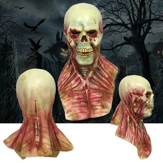 【FS】Horror alien Bloody Zombie Mask Melting Face Adult Latex Costume Halloween Scary Prop