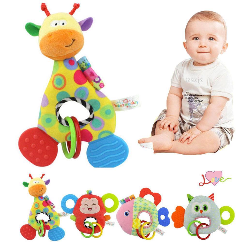 Giraffe Monkey Animal Stuffed Doll Soft Plush Toy Newborn Baby Kids Infant Toy