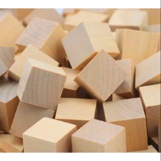50 khối gỗ vuông 3cm