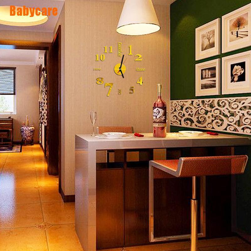 Đồng Hồ Dán Tường Tráng Gương 3d Diy Hiện Đại Trang Trí Nhà Cửa / Văn Phòng