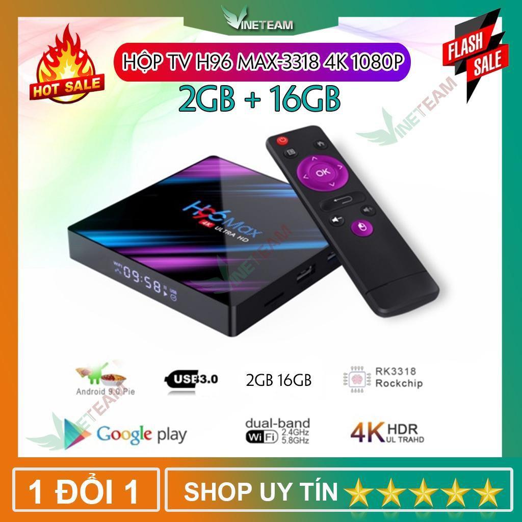 Hộp tivi thông minh H96 Max Android 9.0 RK3318 Dual WiFi Bluetooth 4.0 KODI  18.1