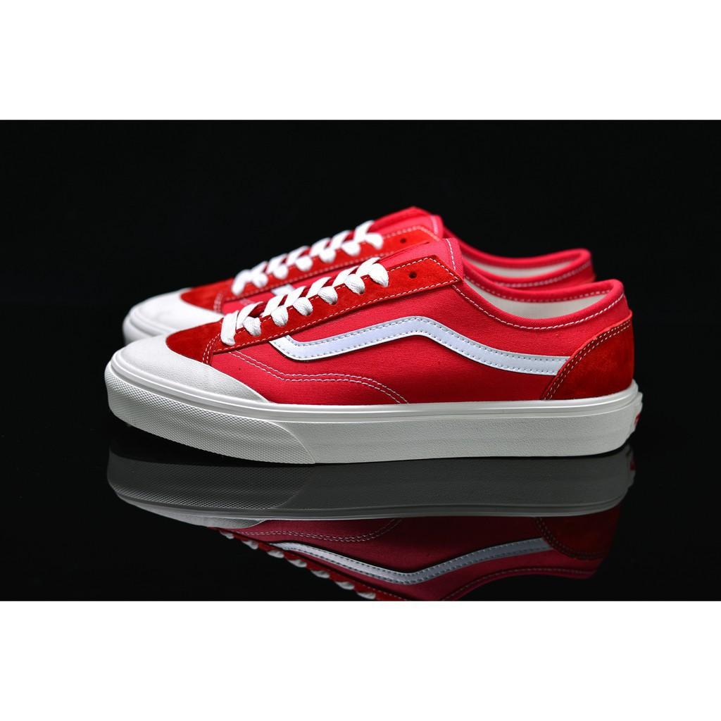 <AB> Vans Style 36 Decon SF รองเท้าโลฟเฟอร์สีแดงและสีขาว 35-44 15
