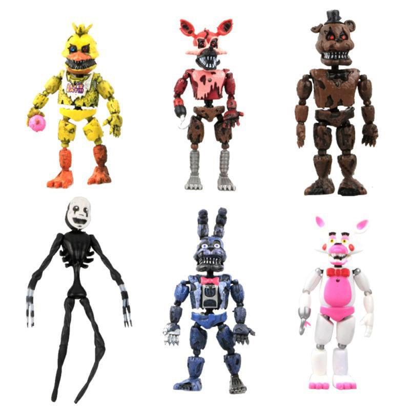 New Arrival 6Pcs FNAF Five Nights at Freddy's Action Figures Toys Kids Gift