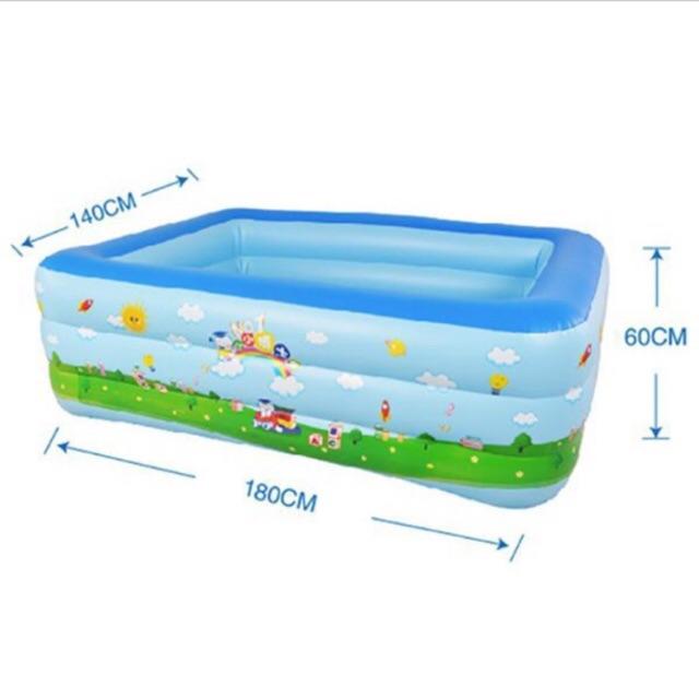 Bể bơi 3 tầng 1m8 cho trẻ kèm bơm điện
