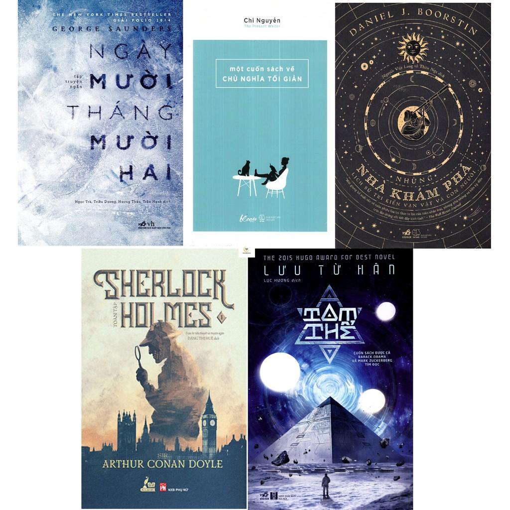 Combo Sách Sherlock Holmes Tập 1,Một Cuốn Sách Về Chủ Nghĩa Tối Giản,Những Nhà Khám Phá,Tam Thể,Ngày