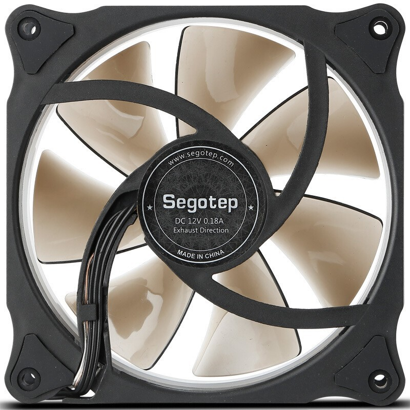 Segotep Moparty 12cm RGB LED Aureole Silent Cooling Fan Replacement 6Pin