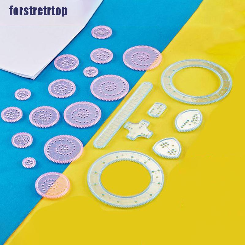 【FSTTTOP】Spirograph Drawing Toys Set Interlocking Gears Wheels DIY Painting Ac